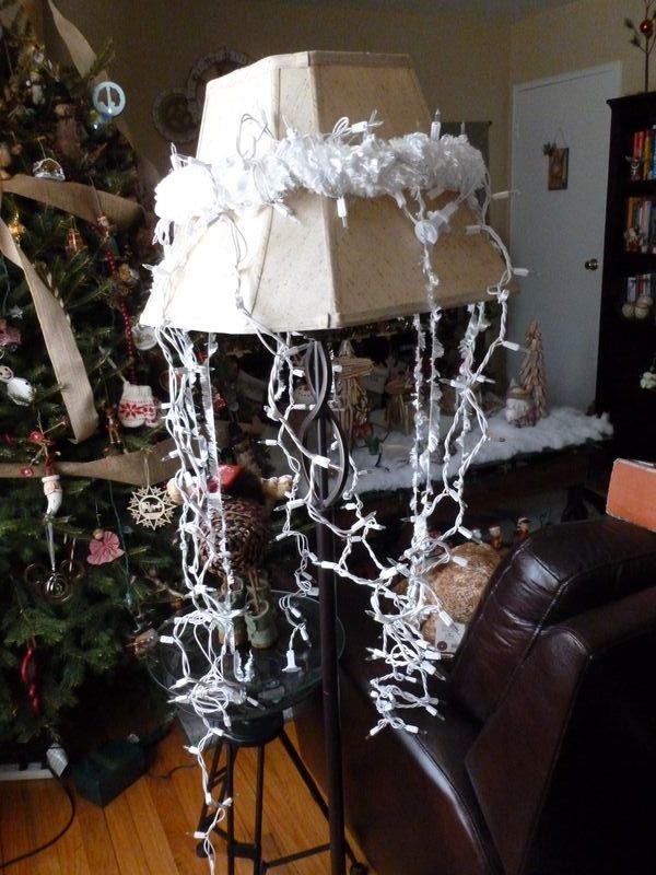 Hoop chandelier
