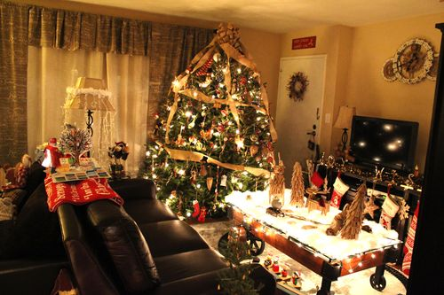 Rustic Christmas Living Room 4