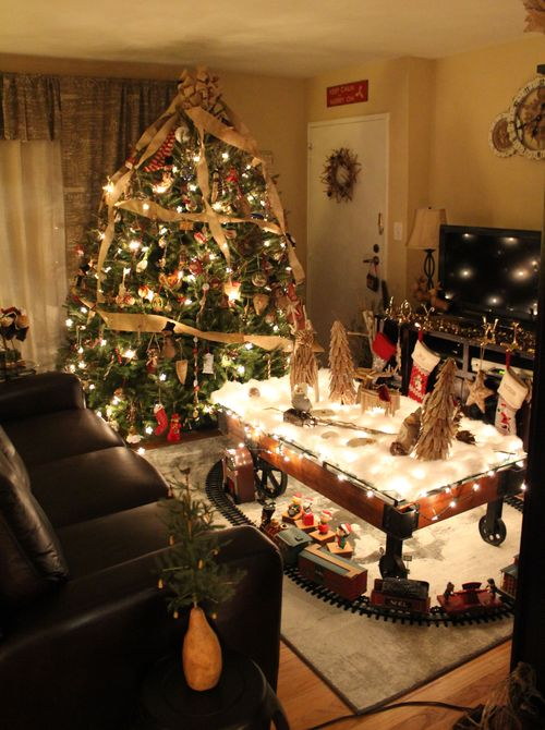 Rustic Christmas Living Room 2